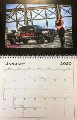 Daily Driven Performance 2020 Truck/Girl Calendar