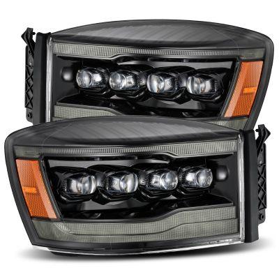 ALPHAREX NOVA SERIES LED PROJECTOR HEADLIGHTS ALPHA BLACK |2006-2008 RAM 1500/2500/3500|