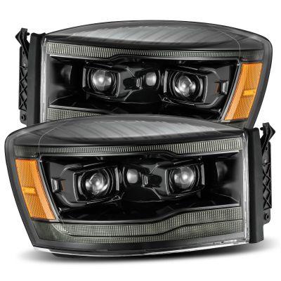 ALPHAREX LUXX-SERIES LED PROJECTOR HEADLIGHTS ALPHA-BLACK |2006-2008 RAM 1500/2500/3500|