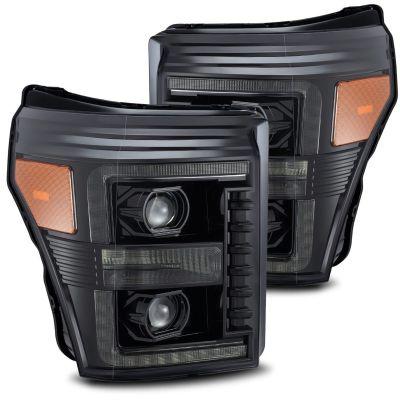ALPHAREX LUXX-SERIES LED PROJECTOR HEADLIGHTS ALPHA BLACK |2011-2016 FORD F250/350|