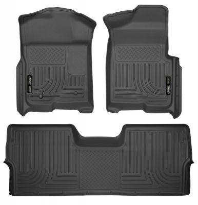 HUSKY LINERS WEATHERBEATER FRONT & 2ND ROW FLOOR LINERS |2009-2014 FORD F150|