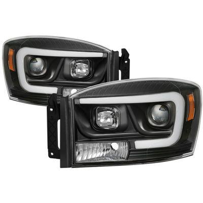 SPYDER LIGHTS BLACK PROJECTOR HEADLIGHTS W/DRL |2006-2009 DODGE RAM 2500/3500|