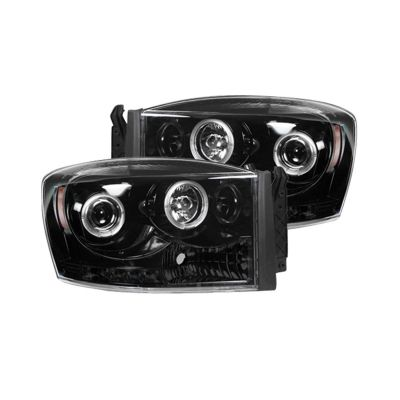 RECON PROJECTOR HEADLIGHTS W/CCFL HALOS |2006-2009 RAM 1500/2500/3500|