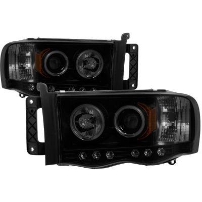 SPYDER AUTO BLACK/SMOKED PROJECTOR HEADLIGHTS W/CCFL HALO |2003-2005 RAM 2500/3500|
