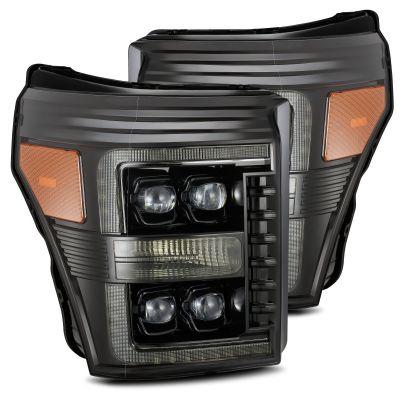 Alpharex F250 F350 Headlights Alpha Black