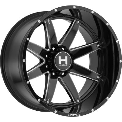 HOSTILE WHEELS H109 ALPHA BLADE CUT |20X12 DODGE RAM 2500/3500|