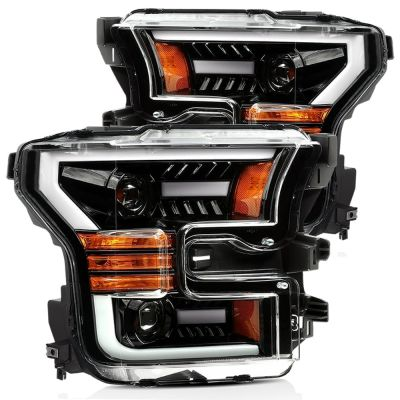 ALPHAREX PRO-SERIES PROJECTOR HEADLIGHTS JET BLACK|2015-2017 FORD F150 / 2017-2020 F150 RAPTOR|