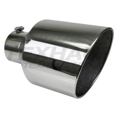 "Polished Exhaust Tip |4"" Inlet to 12"" Outlet , 18"" in Length