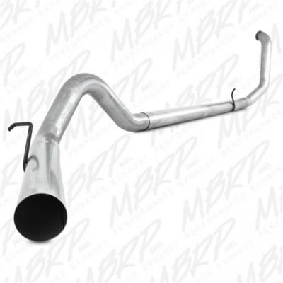 "MBRP 4"" ALUMINIZED TURBO BACK EXHAUST SYSTEM NO MUFFLER