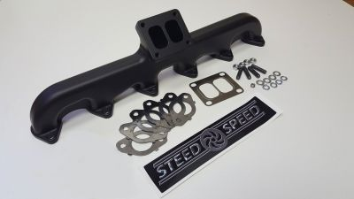 STEED SPEED 2ND GEN T4 24V EXHAUST MANIFOLD ANGLED  1994-2018 DODGE CUMMINS 