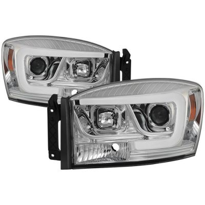 SPYDER LIGHTS CLEAR PROJECTOR HEADLIGHTS W/DRL |2006-2009 RAM 2500/3500|