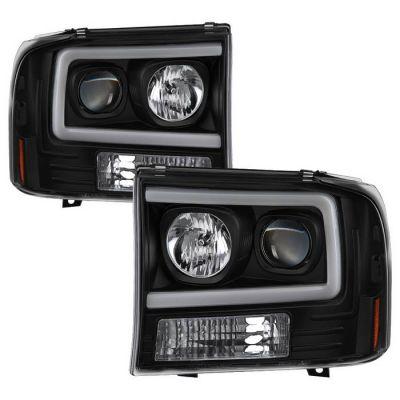 SPYDER AUTO LED U BAR PROJECTOR HEADLIGHTS  1999-2004 FORD F250/350 