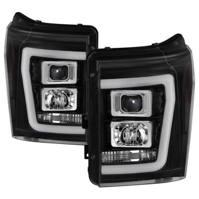 SPYDER AUTO LED BLACK PROJECTOR LIGHTS W/DRL |2011-2016 FORD F250/350|