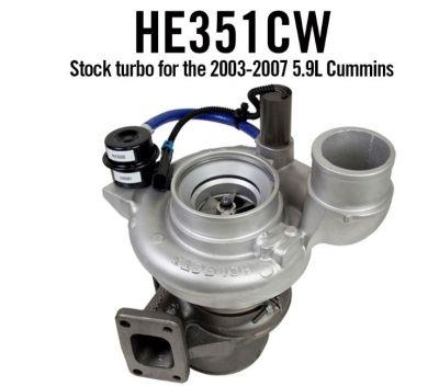High Tech Turbo Stock Replacement HE351CW Holset Turbo  5.9L Cummins 2004.5-2007 